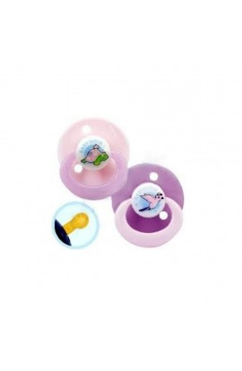 Baby-Nova pacifier latex round with picture