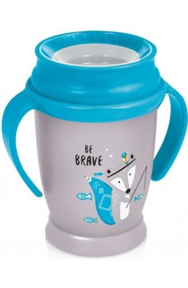 LOVI non-removable 360 ° Junior Indian 250 ml mug with blue grips