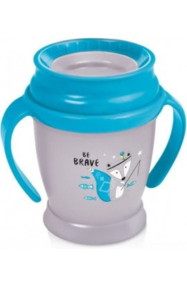 LOVI Take a non-removable 360 ° Mini Indian 210 ml mug with blue grips