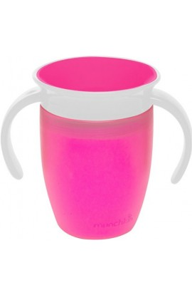 Munchkin Junior non-flowing 360 ° mug with pink 207 ml