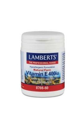 Lamberts Natural Vitamin E 400 I.E. 60 Softgels LB