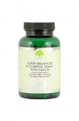 G&G Vitamins Super Balanced Vitamin B Complex with 50mg of Niacin 120 veg. Kapseln
