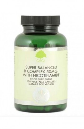 G&G Vitamins Super Balanced Vitamin B Complex with 50mg of Nicotinamide 120 veg. Kaps (vegan)
