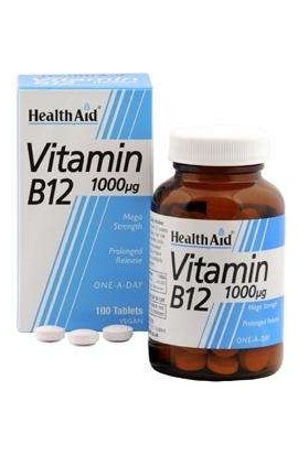 Health Aid [4er PACK] | Vitamin B12 1000mcg 100 veg. Tabletten S/R (vegan) | 4x100 Tabletten
