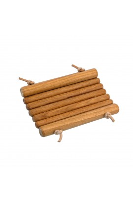 REDECKER, WOODEN SOAP DISH WITH A LEATHER STRING, 1 PC