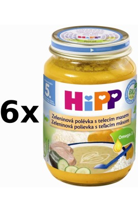 HiPP BIO Baby vegetable menu with veal 6x190g