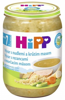 HiPP Organic broth with noodles. and turkey meat 190g