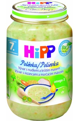 HiPP Organic broth with noodles and turkey meat 190g