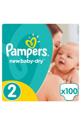 Pampers New Baby-dry 2 mini 3-6 kg 100 ks