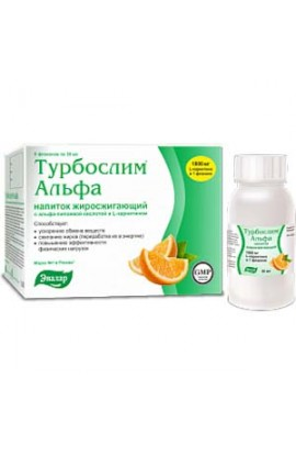 Evalar Turboslim Alfa drink 50 mg 6 bottles