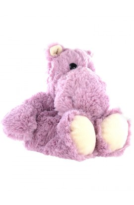 Soframar Cozy Plush Hot Water Bottle Hippopotamus