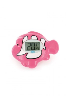 dBb Remond electronic bath thermometer with illuminated fish pink