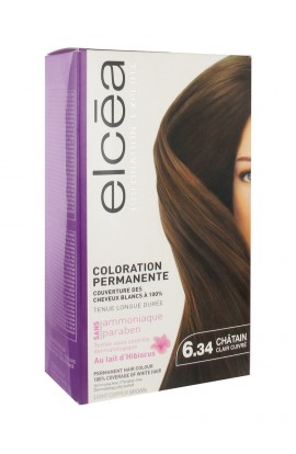 Elcéa Permanent Hair Colour, 6.34: Light Copper Brown