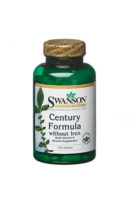 Swanson Multivitamins without iron, 130 tablets