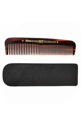 Cellon Pocket Comb with Leather Case HS-61 LE Hercules Sägemann