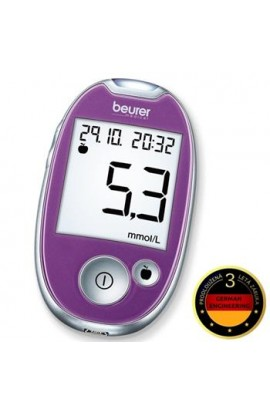 Glucometer BEURER GL 44 purple / 3 year warranty