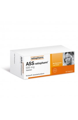 Ratiopharm, ASS 500mg, (100 stk)