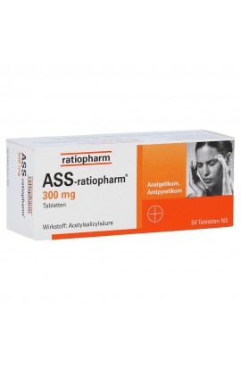 Ratiopharm, ASS 300mg, (50 stk)