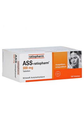 Ratiopharm, ASS 300mg, (100 stk)