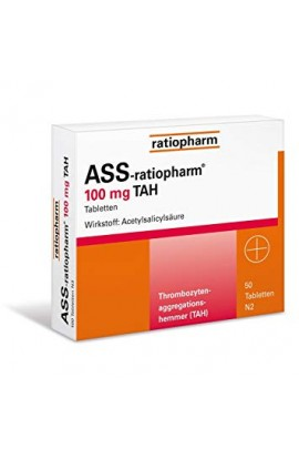 Ratiopharm, ASS  100mg TAH, (50 stk)