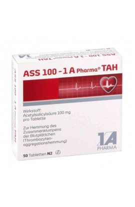 1A Pharma,ASS 100 - TAH,  (50 tab)