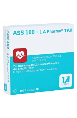 1A Pharma,ASS 100 - TAH,  (100 tab)