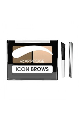 ART-VISAGE Double eyebrow shadows ICON BROWS with a brush and tweezers 421