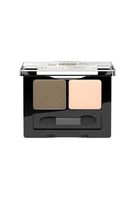 ART-VISAGE double eye shadow DOUBLE STORY tone 206 milk chocolate-champagne