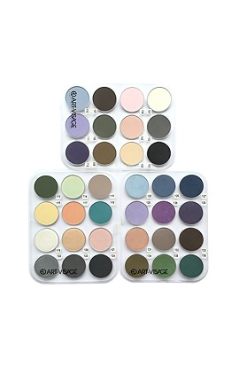 ART-VISAGE eye shadow COLOR DREAM 36 tones (3 pallets of 12 pcs)
