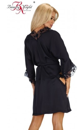 Beauty Night Fashion Erotic bathrobe  Ambrosia black