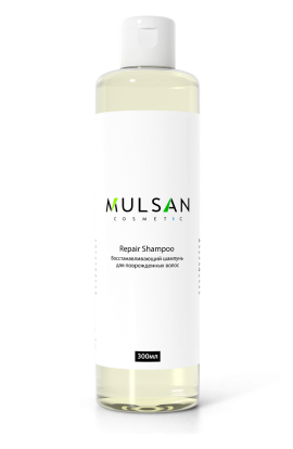 Mulsan Restoring shampoo for damaged hair with almond extract and birch buds 300 ml