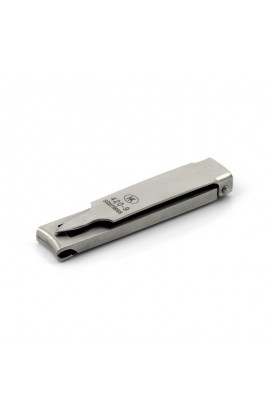 Folding Travel Nail Clippers, Stainless Steel, made in Germany HK-420-9000 Hans Kniebes