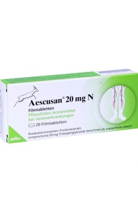 Mibe, AESCUSAN 20 mg N Filmtabletten, 20 tab