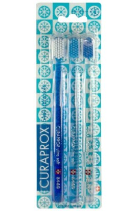 Ultra soft toothbrush (blue-white+transparent-blue+transparent-blue) CS Ultra Soft 5460 3-pack WINTER 3pcs Curaprox