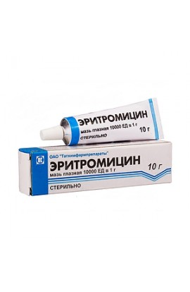 Tathimpharm preparations Erythromycin, ointment eye 10000 U / g, 10 g