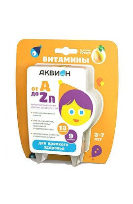 Vneshtorg Farma Akvion Vitamin and mineral complex from A to Zn for children 3-7 years old, 30 pcs.