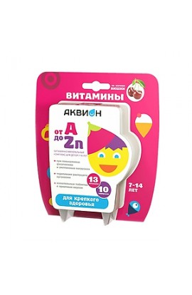 Vneshtorg Farma Akvion Vitamin and mineral complex from A to Zn for children 7-14 years old, 30 pcs.