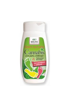 BIONE COSMETICS Bio Cannabis Foot Cream with Disinfecting and Softening Ingredients 250 ml