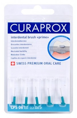 Set of interdental brushes 0,6 mm CPS 06 prime refill 5pcs Curaprox