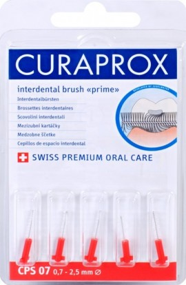 Set of interdental brushes 0,7 mm CPS 07 prime refill 5pcs Curaprox
