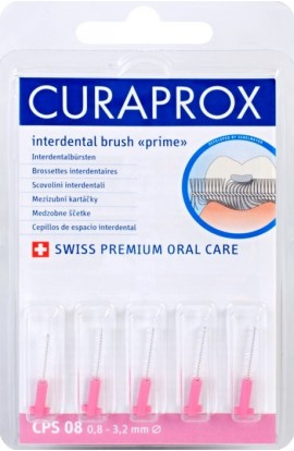 Set of interdental brushes 0,8 mm CPS 08 prime refill 5pcs Curaprox