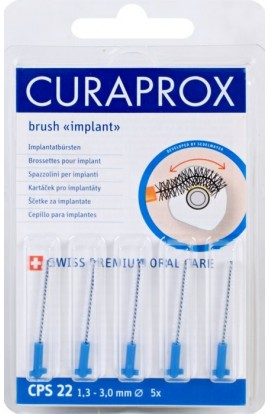 Dental brushes for implants 1,3mm CPS 22 strong implant 5pcs Curaprox