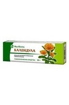 Moscow pharmaceutical factory Calendula, ointment homeopathic 30 g