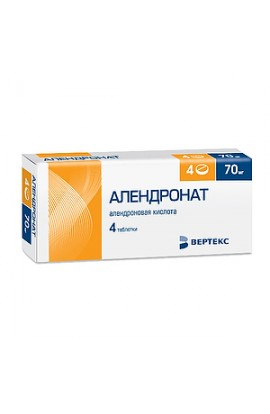 Vertex Alendronate, tablets 70 mg, 4 pcs.