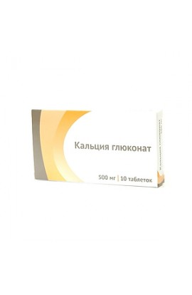 Ozone Calcium gluconate, tablets 500 mg, 10 pcs.