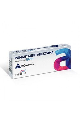 Irbitsky HFZ, Rimantadine Avexima tablets 50 mg, 20 pcs.