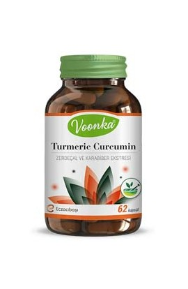 Voonka, Turmeric and black pepper extract 62 capsules