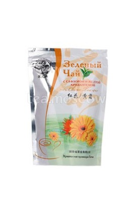 Chinese Green Tea with Flaming and Yellow Chrysanthemum 100g Black Dragon
