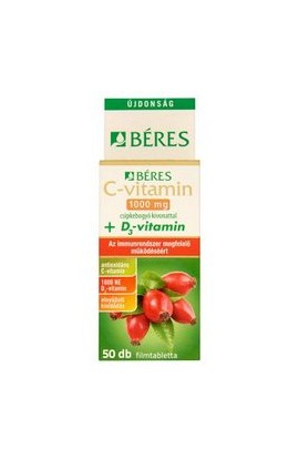 Béres, C-VITAMIN 1000 mg + D3, 50 ks