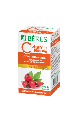 Béres, C-vitamin 1000 mg RETARD , C-ВИТАМИН 1000 мг, 90 шт